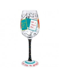 Lolita 'Girl Talk' Wine Glass